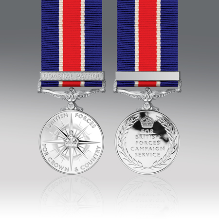British Forces Campaign Full Size Medal Single Clasp Web