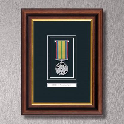 Mahogany & Gilt Medal Frame for 1 Medal