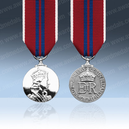 Queens 1953 Coronation Miniature Medal