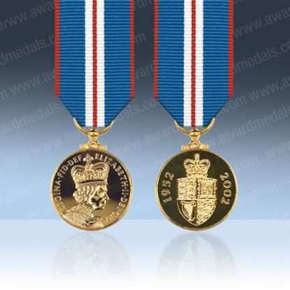 Queens 2002 Golden Jubilee Miniature Medal