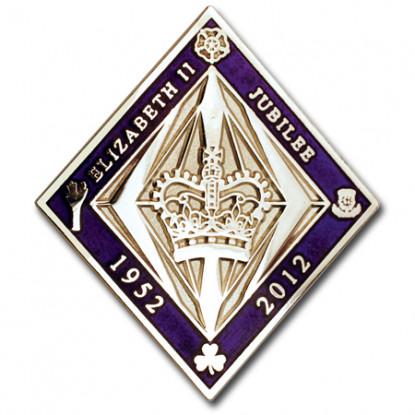 Queens Diamond Jubilee Lapel Pin
