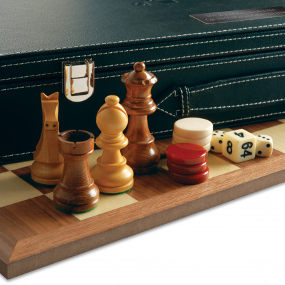 3 in 1 Chess, Draughts & Backgammon Games Set