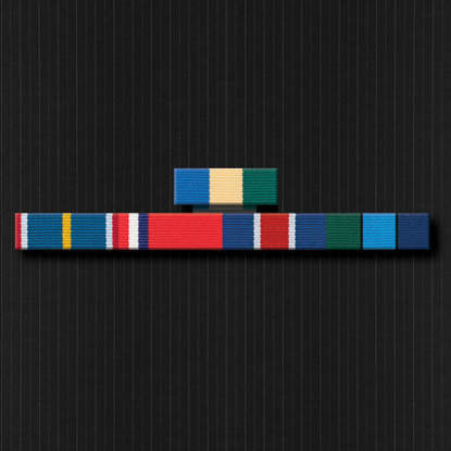 Ribbon Brooch Bar with Five Ribbons