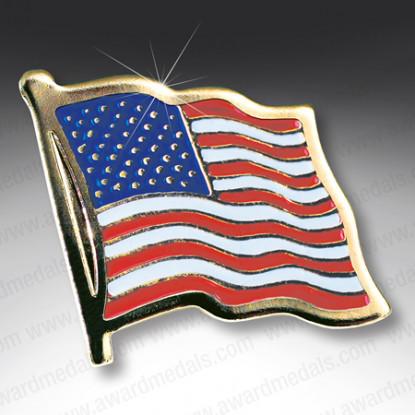 American Flag Lapel Badge