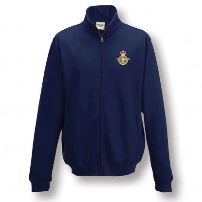 Navy Blue Zip Up Sweatshirt