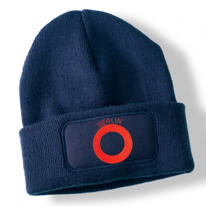 Northern Ireland Veteran Navy Blue Acrylic Beanie Hat
