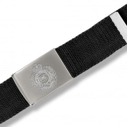 Black Personalised Canvas Belt