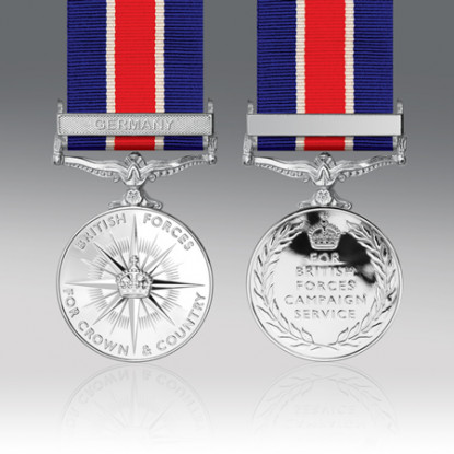British Forces Campaign Full Size Medal Germany