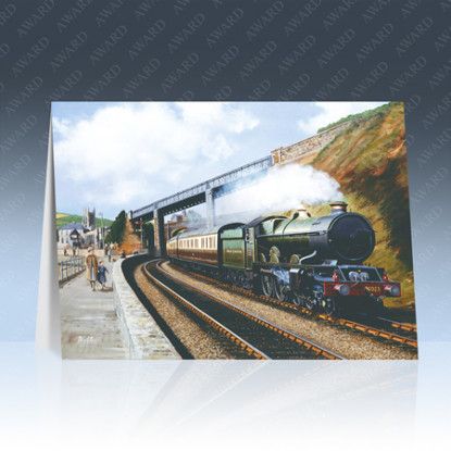 Teignmouth Steam Locomotive Greeting Card