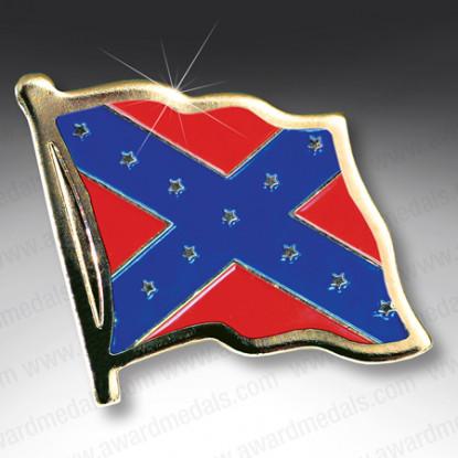 Confederate Flag Lapel Badge