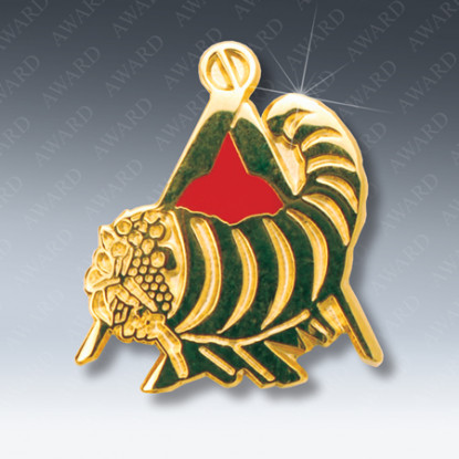 Cornucopia Masonic Lapel Pin
