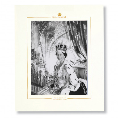 Black & White Coronation Mounted Print by Cecil Beaton