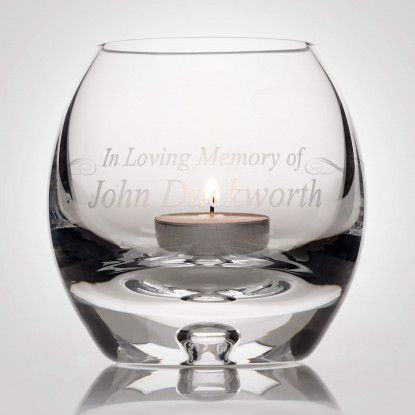 Personalised Crystal Candle Holder