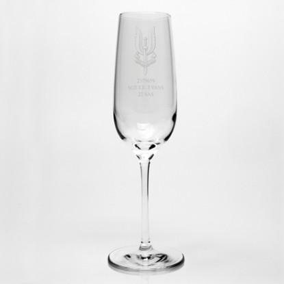 Engraved Dartington Champagne Flute