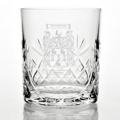 Family Crest Panel Detail Glass Tumbler