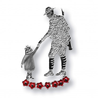 Father & Child Pin