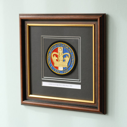 Framed Embroidered National Service Blazer Badge