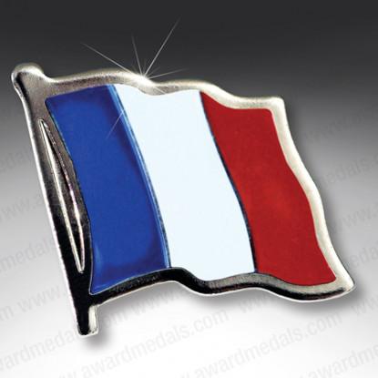Flag of France Lapel Badge
