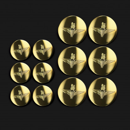 Full Set of Military Brass Engraved Blazer Buttons