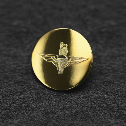 Full Size Military Brass Engraved Blazer Button