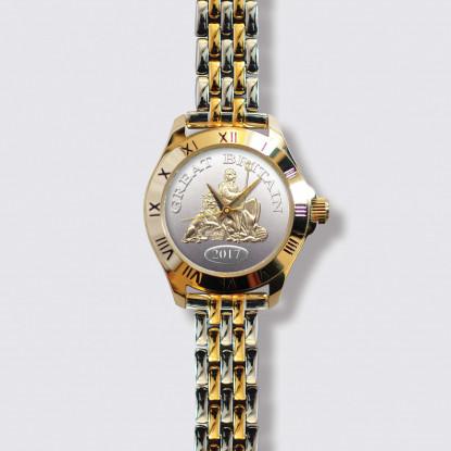 Great Britain Watch Ladies Two Toned Bracelet