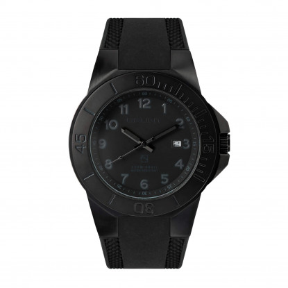 The Tough Watch, Blackout Dial, Case & Bezel, Silicon Strap