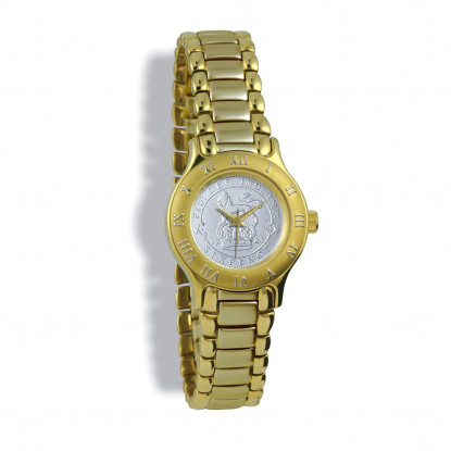 Summit Ladies, Gold Case, Gold Bracelet, Silver Coin