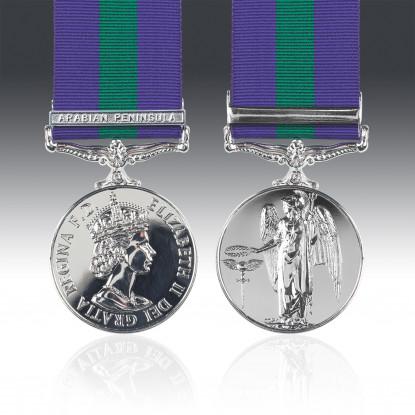 General Service Medal 1918-62 E.II.R & Arabian Peninsula Clasp