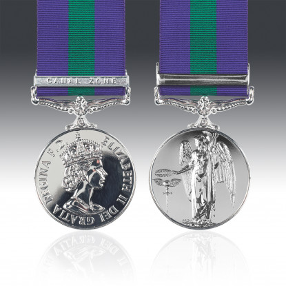General Service Medal 1918-62 E.II.R & Canal Zone Clasp