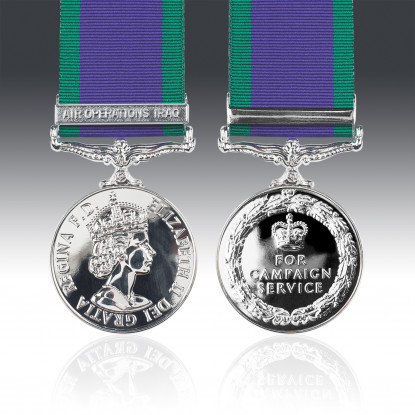 General Service Medal 1962 & Air Operations Iraq Clasp