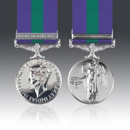 General Service Medal 1918-62 E.II.R & Berlin Airlift Clasp