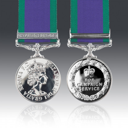 General Service Medal 1962 & Cyprus 1963-64 Clasp