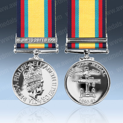 Gulf Medal With Clasp 16 Jan - 28 Feb 1991 Full Size Loose