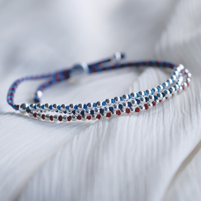 Help for Heroes Beaded Three Strand Bracelet