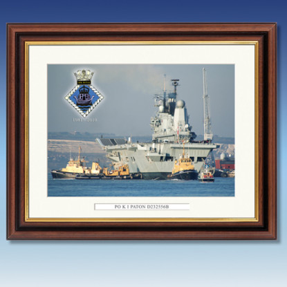 Personalised HMS Ark Royal Framed Print