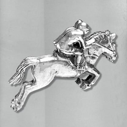 Stainless Steel 16ox Horse & Jockey Tankard