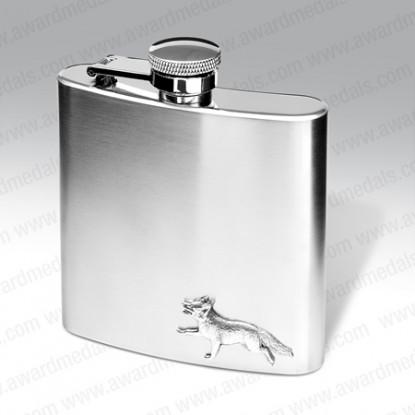 Engraved Hunting Hip Flask Set