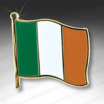 Irish Flag Lapel Badge