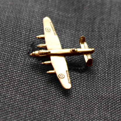 Gold Plated Lancaster Lapel Badge