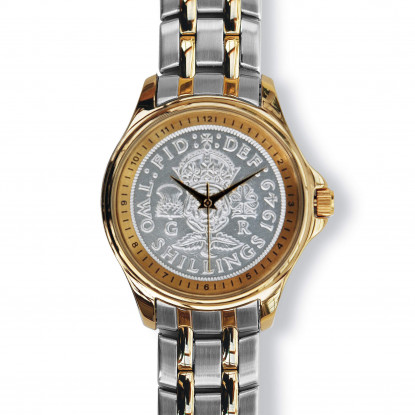 Lifestyle Coinwatch with Florin, Gold Case, 2-tone Bracelet