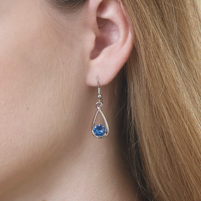 Majestic Sapphire Drop Earrings