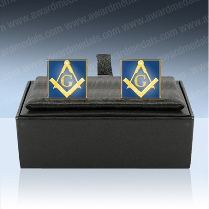 Masonic Enamel Cufflinks with G
