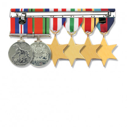 Miniature Medal Brooch Bar - Four Space