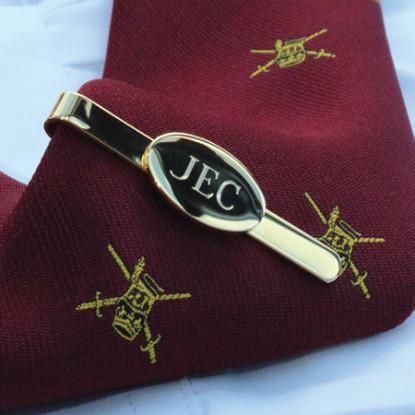 Gilt Plated Engraved Tie Slide