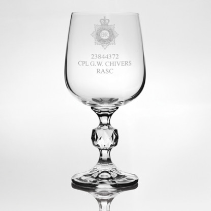 Engraved Wine Goblet