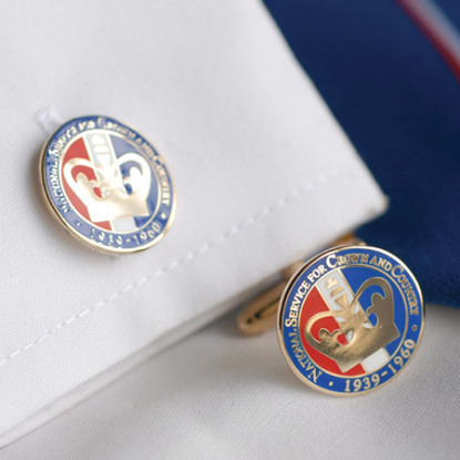 National Service Crown Cufflinks