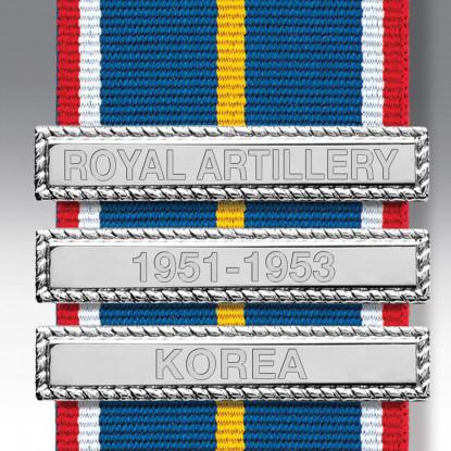 Nickel Engraved Medal Clasps