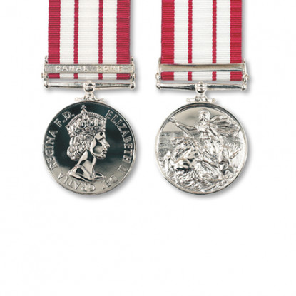 Naval General Service Miniature Medal & Canal Zone Clasp