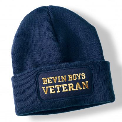 Bevin Boys Veteran Navy Blue Acrylic Beanie Hat
