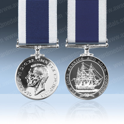 Royal Navy Long Service Medal GVIR